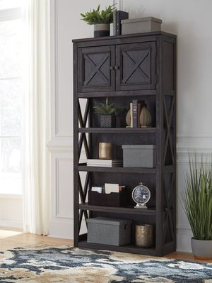 Brown/Black or White/Oak Large Bookcase for Sale in Houston, TX