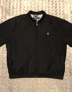 Men's Polo Bi-Swing Windbreaker paid $155 Size XL Like New Condition no signs of wear. Black with cream polo logo. Great jacket for Sale in Washington, DC