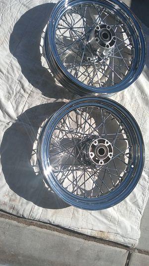 Harley-Davidson chrome spoke wheels for Sale in North Las Vegas, NV