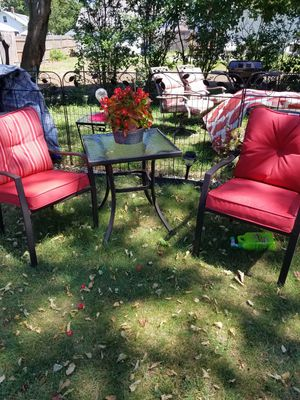 Outdoor cushions, rug and umbrella for Sale in Cranston, RI