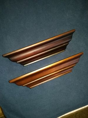 "(2) Dark Brown 6"" Wall Shelves for Sale in Cypress, TX"