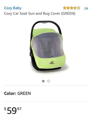 Canopy Car Seat Cover Ca: Pink for Sale in Los Angeles, CA