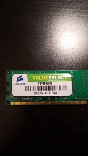 Corsair VS1GB667D2 1 GIG RAM STICK for Sale in Herndon, VA