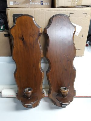 Wall sconce wooden candle holder used for Sale in Warren, MI