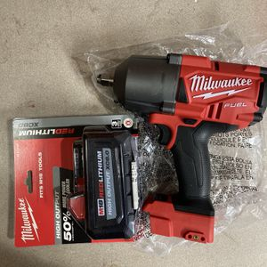 """Milwaukee M18 Fuel 1/2"""" Wrench 1400ft Lbs, And 8.0 Battery. for Sale in Philadelphia, PA"""