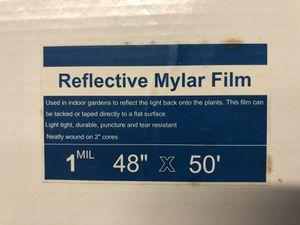 """Reflective mylar film 48"""" x 50' Grow tent for Sale in Lantana, FL"""