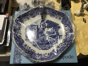 Spode Italian blue handled tray. for Sale in New York, NY