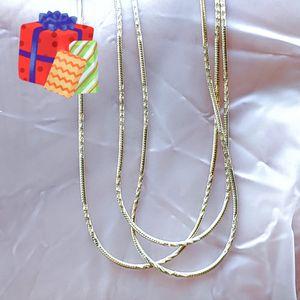 🎁 New 14k Gold plated diamond cut chain w/tag for Sale in Pompano Beach, FL