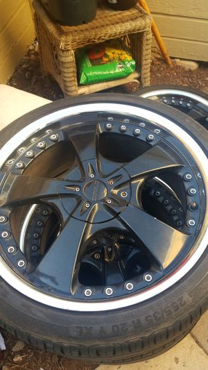 Rims and tires 20inch for Sale in Littleton, CO