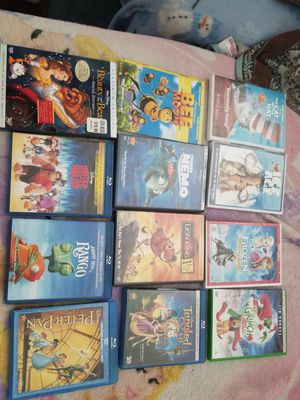 DVD disney Peter pan beauty and the beast tangled for Sale in El Cajon, CA
