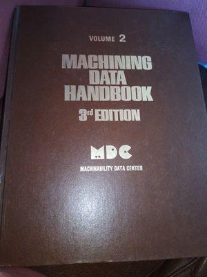 Machining data handbook (volume 2) for Sale in Santa Ana, CA