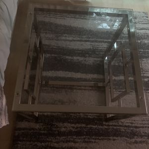 2X2 Modern Glass End Table for Sale in Seattle, WA