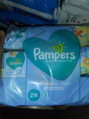 Pampers wipes. 216 count for Sale in TEMPLE TERR, FL