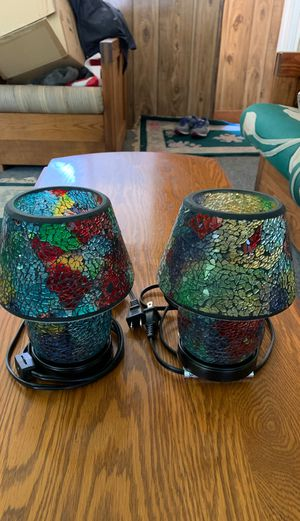 Mosaic lanterns electric (2) for Sale in Peabody, MA