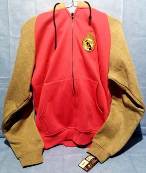 New Real Madrid hoodie jacket pink size XL for Sale in Downey, CA