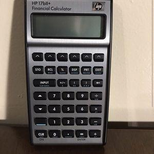 HP B17ii + (Used) Financial Calculator for Sale in San Diego, CA