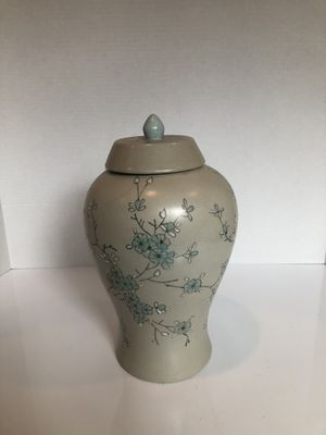 Blue Ginger Jar with Cherry Blossoms for Sale in Lorton, VA