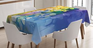 "Tablecloth 60""W x 90""L Dangling Flowers Grunge Print 14528 for Sale in Orlando, FL"