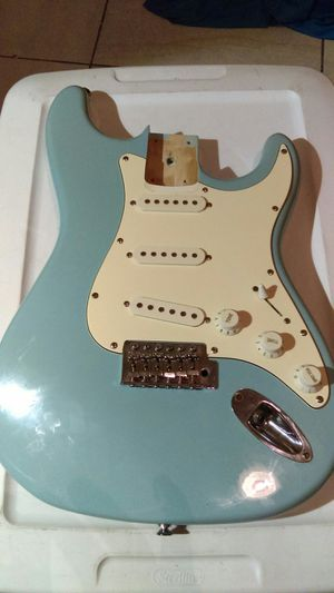 Stratocaster daphne blue guitar body loaded for Sale in Chandler, AZ