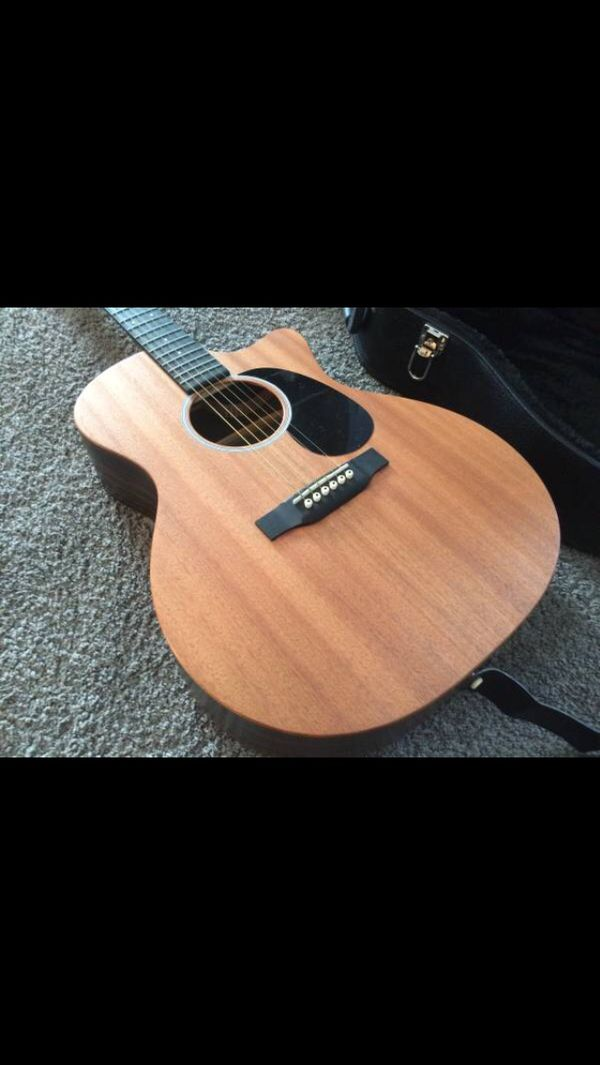 Martin GPC X2AE Macassar Acoustic Electric Guitar w/ Road Runner case