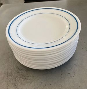 Pyrex Corning Tableware In Blue Bands (12) for Sale in Las Vegas, NV