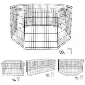 30 Heavy Duty Metal Dog Cat Fence Exercise Playpen Kennel 8 Panel Safe For Pet for Sale in Wildomar, CA