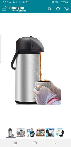 Airpot Coffee Carafe - Thermal Beverage Dispenser for Sale in Weston, FL