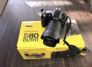 Nikon D80 10.2MP Digital SLR Camera - Black (Kit w/ AF-S DX ED G 18-55mm Lens) Works Perfect for Sale in Port Hueneme, CA