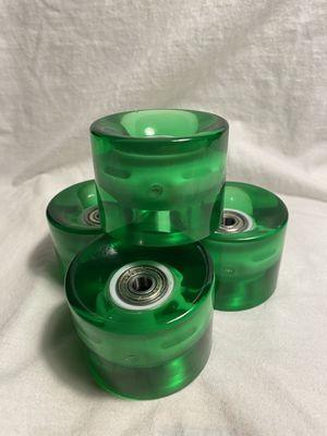 Gel green led light up wheels for skateboards for Sale in Murrieta, CA