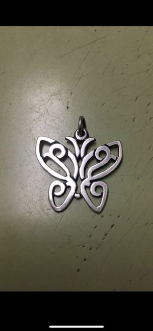 Retired James Avery lace butterfly pendant for Sale in San Antonio, TX