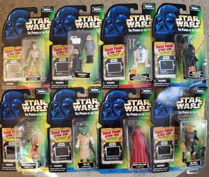 8 - Star Wars - The Power of The Force - Green Card w/Freeze Frame - 3 3/4 Action Figure Collection for Sale in Oakdale, CA