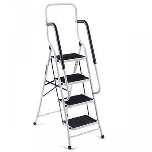 2-in-1 Non-slip 4 Step Folding Stool Ladder House Equipment for Sale in Henderson, NV
