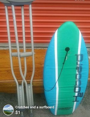 Crutches and surfboard for Sale in North Charleston, SC