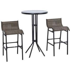 3 Pcs Outdoor Table and Chairs Bistro Set For Patio Garden Pool Backyard Furniture for Sale in Henderson, NV
