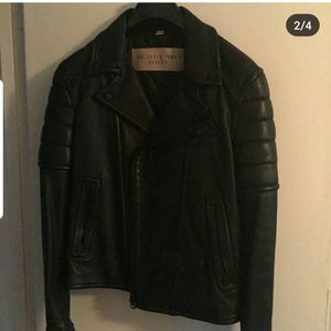 Burberry Mens Leather Coat size Medium for Sale in Takoma Park, MD