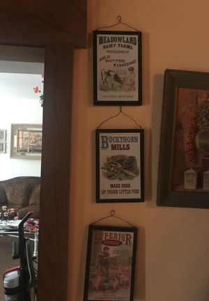 Kitchen wood pictures set of 3 for Sale in Steubenville, OH