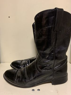 Justin Roper Boots black women's 7.5 horseback riding cowboy cowgirl for Sale in El Cajon, CA