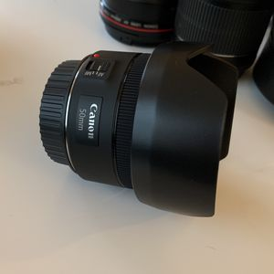 Canon 50mm Lens With Hood for Sale in Villanova, PA