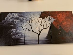 Three peice wall painting for Sale in Starkville, MS