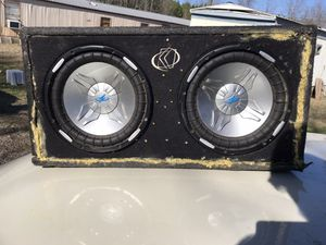 Power Acoustic. 2 12s ported box no rattles. Have 1000 watt pioneer amp I can throw in also for Sale in Pontotoc, MS