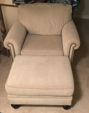 Oversized chair and ottoman for Sale in Boca Raton, FL