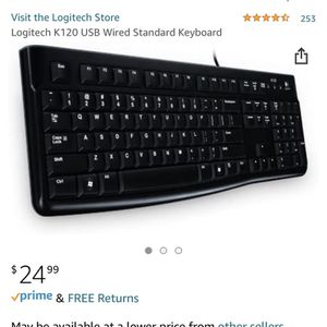 Logitech K120 Keyboard (wired) and M330 Mouse (USB Wireless) for Sale in Los Angeles, CA