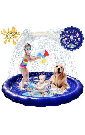 "Splash Pad Sprinkler for Kids, 68"" Water Toys for Kids Outdoor Sprinklers for Yard.Kids Baby Pool Outdoor Swimming Pool for Kids 1-12 Year Old Boys for Sale in Miami Beach, FL"