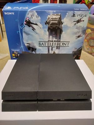 PS4 in Star Wars box with controller and cords for Sale in Virginia Beach, VA