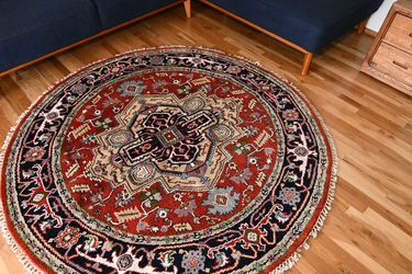 6'2x6'2 Hand Knoted Persian Round Wool Rug for Sale in Portland,  OR