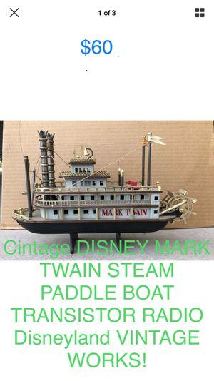 Selling a Cintage DISNEY MARK TWAIN STEAM PADDLE BOAT TRANSISTOR RADIO Disneyland VINTAGE WORKS! for Sale in Phoenix, AZ
