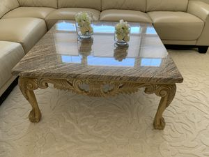 Coffee table with granite table top for Sale in Yonkers, NY