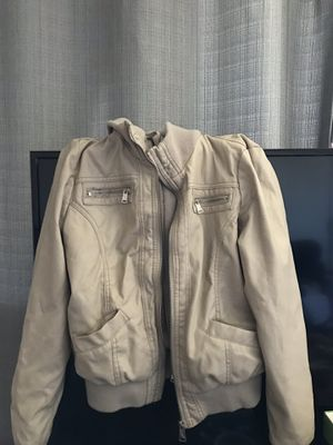 Size small leather jacket with hoodie for Sale in San Diego, CA