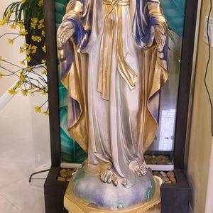 "45"" Virgin Mary Sculpture With 18"" Roman Column for Sale in El Monte, CA"