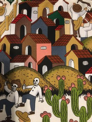"""""""A Day in Mexico """" Lined Runner. Approximately 16"""" by 42"""". """"Un Día en Mexico"""". for Sale in Chicago, IL"""